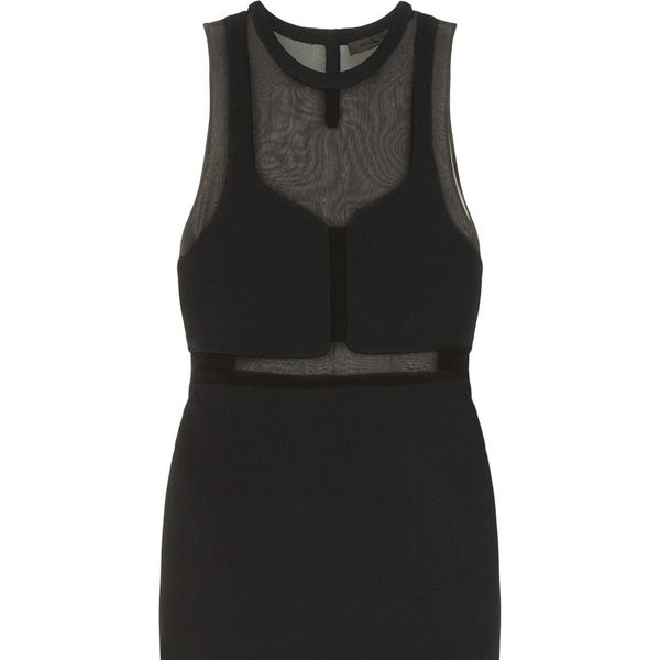 Alexander Wang Paneled Crepe And Silk-chiffon Dress