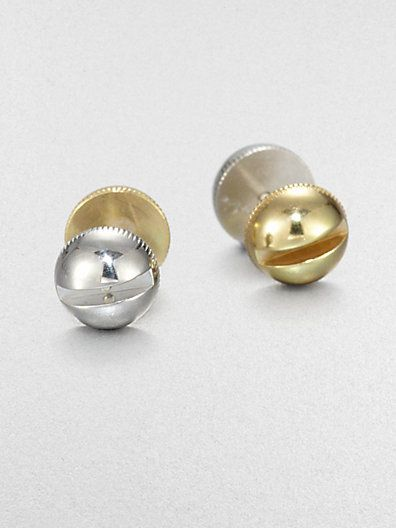 A.L.C.  Two-Tone Screw Stud Earrings