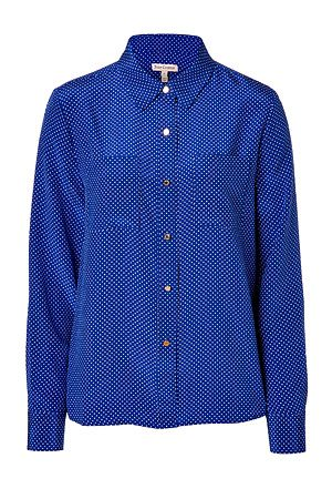 Juicy Couture  Seaside/Angel Polka Dot Silk Blouse