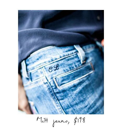 The Marrakesh High Rise Kick Flare Jeans ($198)  *Click here to enter for a chance to win a pair ofMiH personalized jeans.