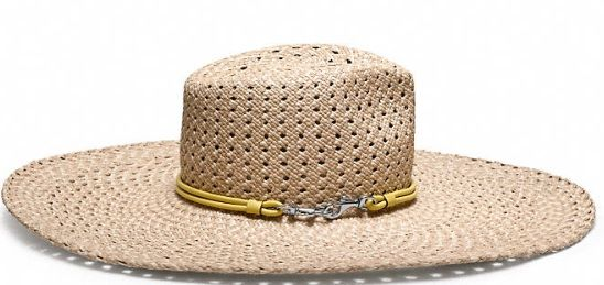 Coach  Braided Floppy Hat