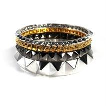 nOir Jewelry nOir Jewelry Multi Pyramid Bracelet Set