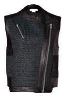 Helmut Lang Helmut Lang Leather Paneled Biker Vest
