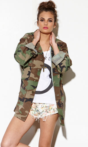 The Gold Republic Camo Military Jacket