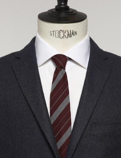 J. Lindeberg  Lalle Vintage Stripe Burgundy Tie
