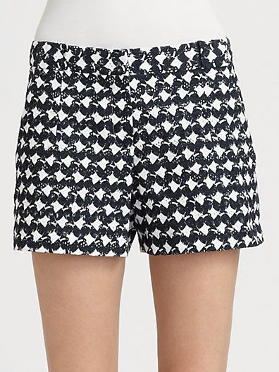 Theory  Roushy Abstract Print Shorts