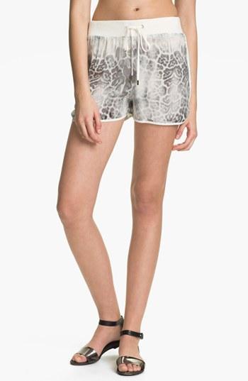 Rebecca Taylor  Print Silk Shorts