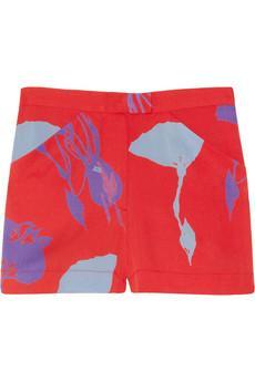 Tucker  Floral-Print Stretch-Silk Crepe de Chine Shorts