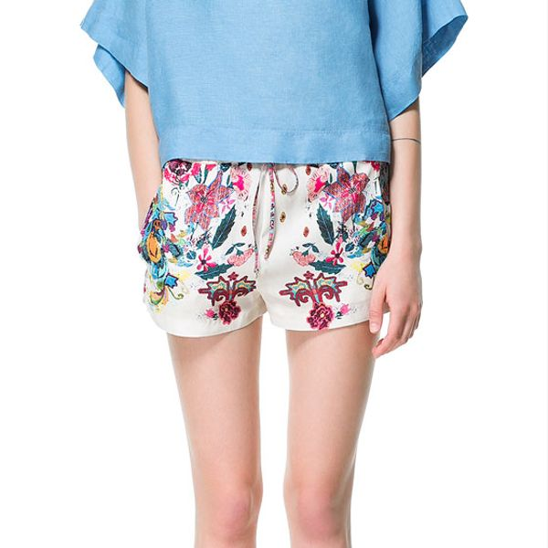 Zara  Flowing Printed Shorts