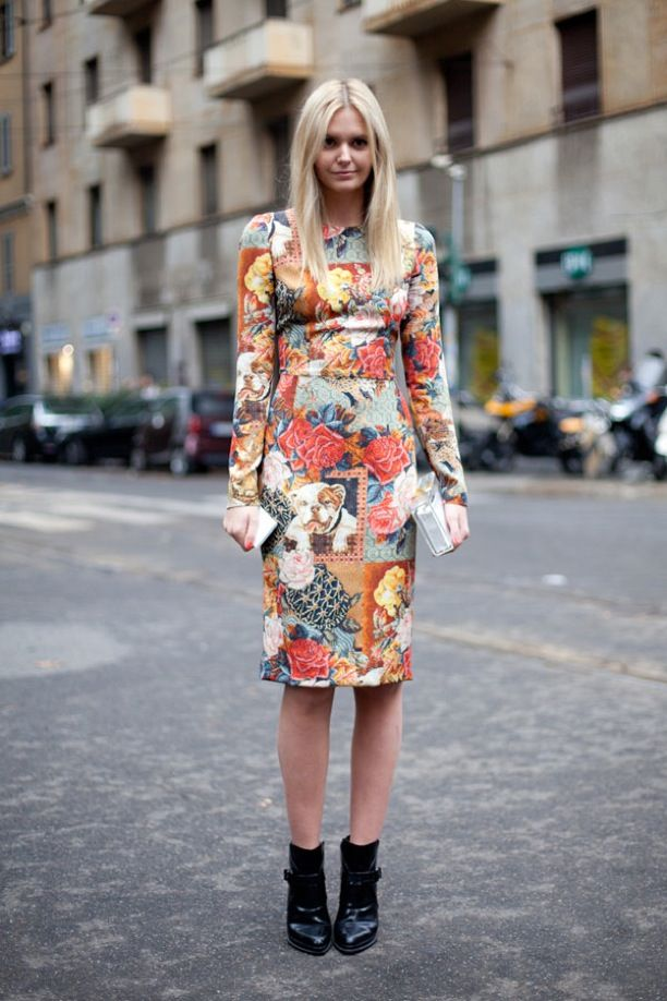 Street Style: Tapestry Print Dresses