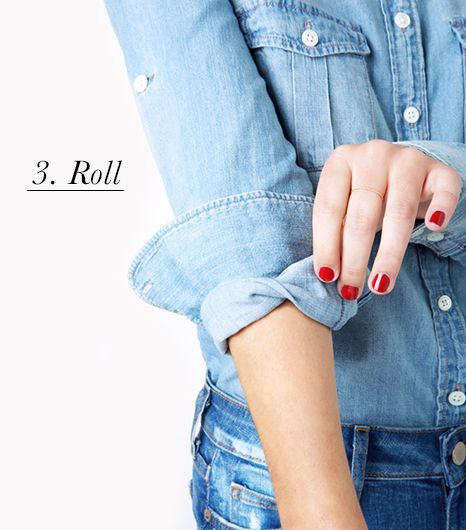 How to cuff your sleeves: roll the sleeve