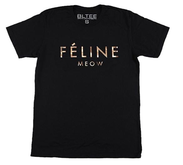 Brian Lichtenberg Féline Tee with Gold Foil