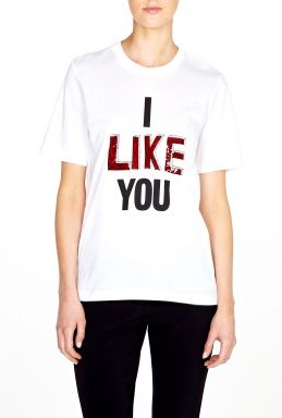 Markus Lupfer I Like You Embroidered Sequin T-Shirt