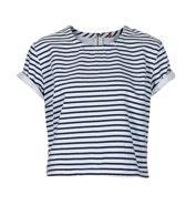Topshop Topshop Moto Stripe Denim T Shirt