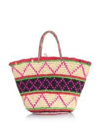 Sensi Studio Sensi Studio Maxi Tribal Woven Straw Bag