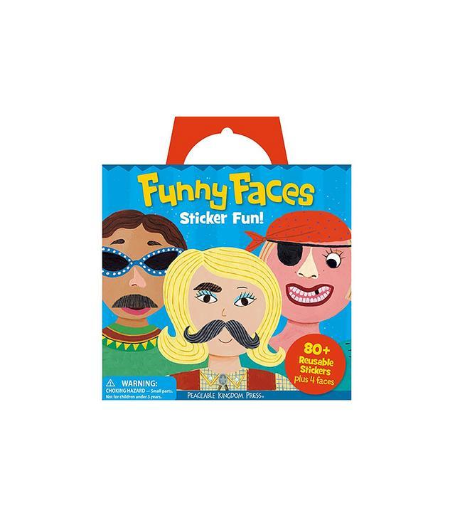 Peaceable Kingdom Funny Faces Sticker Book