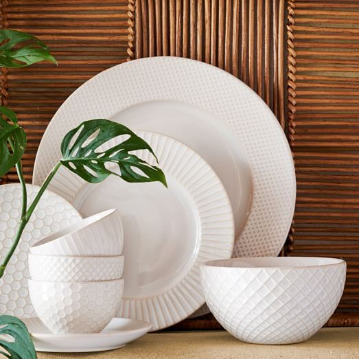 West Elm Textured Dinnerware Set
