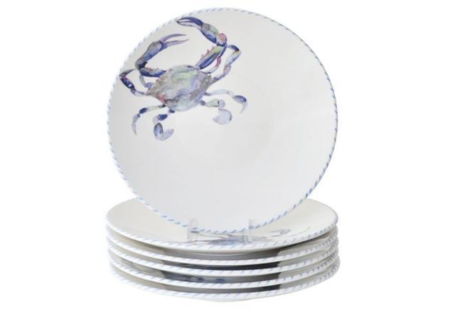 Abbiamo Tutto Blue Crab Dinner Plates