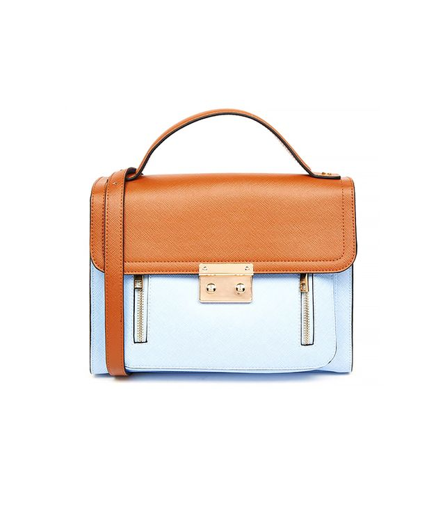 ASOS Pushlock Colourblock Satchel Bag
