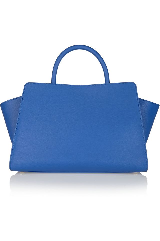 Zac Zac Posen Eartha East-West Textured-Leather Tote