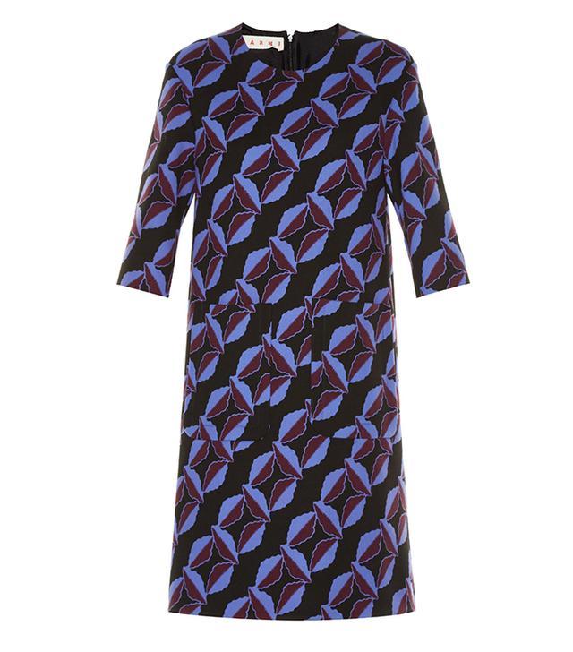 Marni Floral Wool-Cady Dress