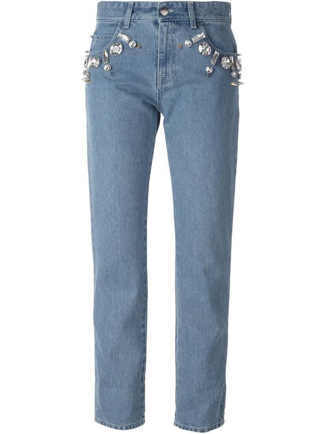 Emmanuel Ungaro Crystal Embellished Jeans