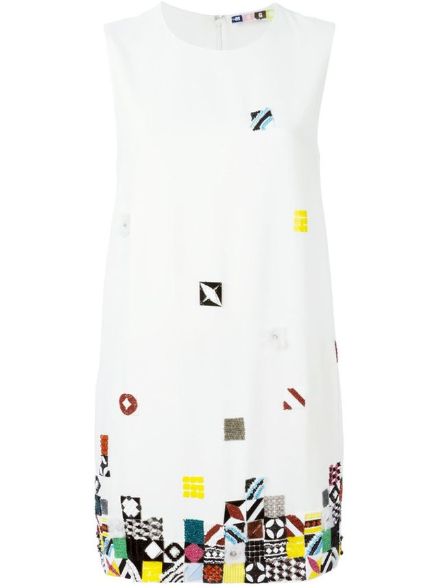 MSGM Embellished Shift Dress
