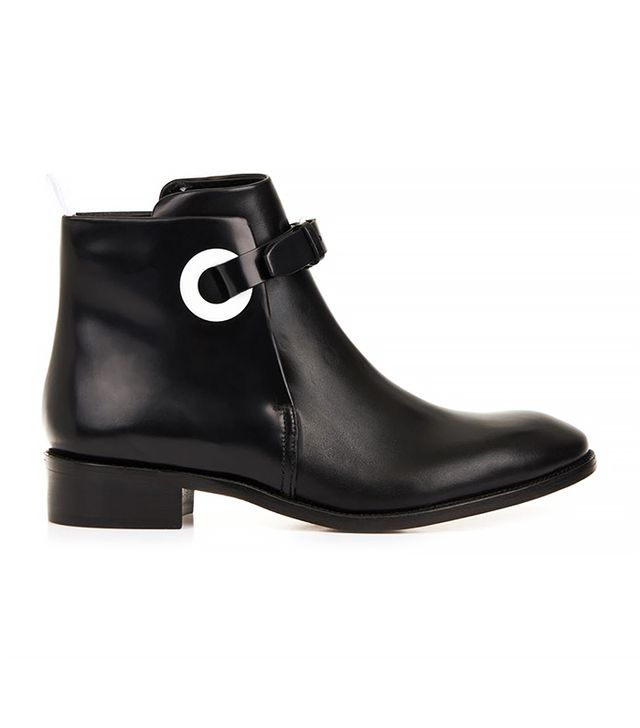 Acne Studios Allea Leather Ankle Boots, Black