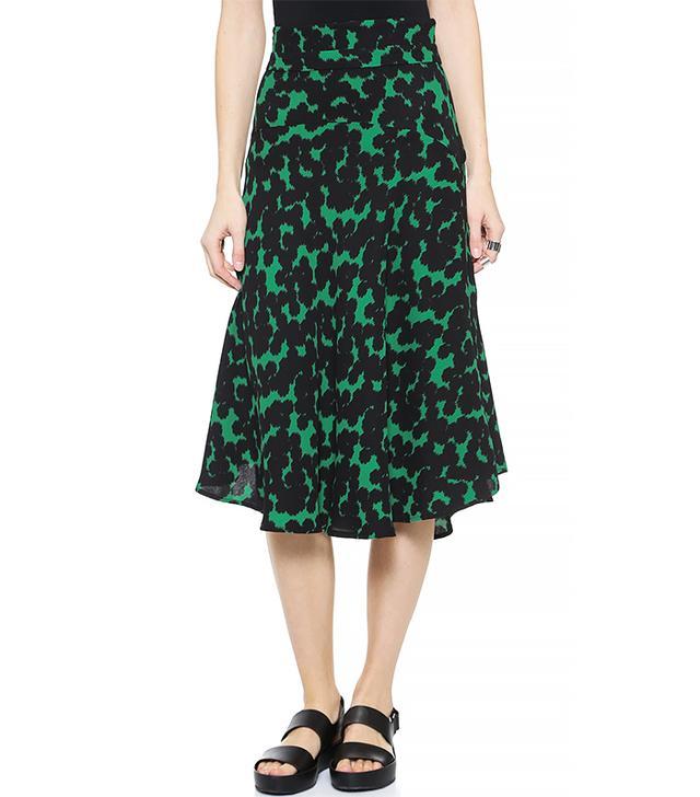 A.L.C. Corso Skirt, Green/Black