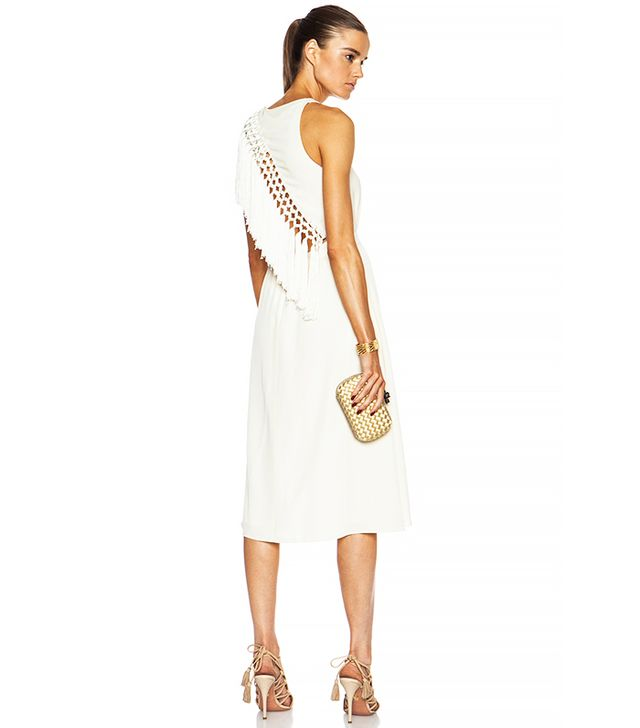 Altuzarra Hipsaniola Acetate-Blend Dress, Cream