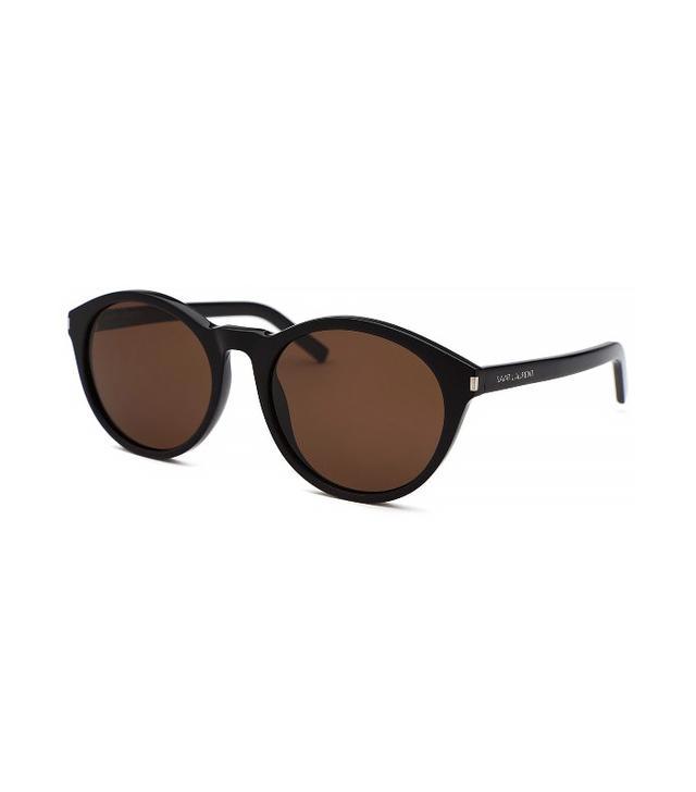 YSL Classic Round Black Sunglasses, Black