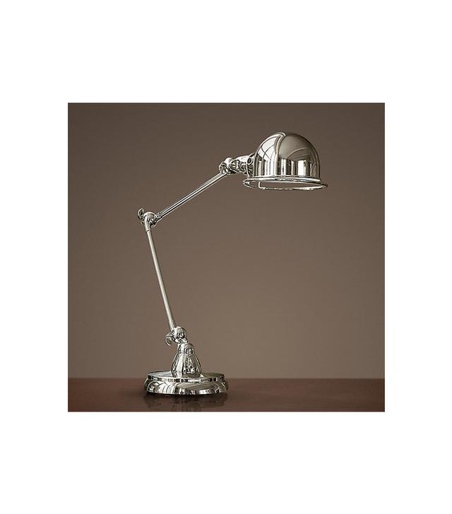 Restoration Hardware Atelier Task Lamp in Polished Nickel