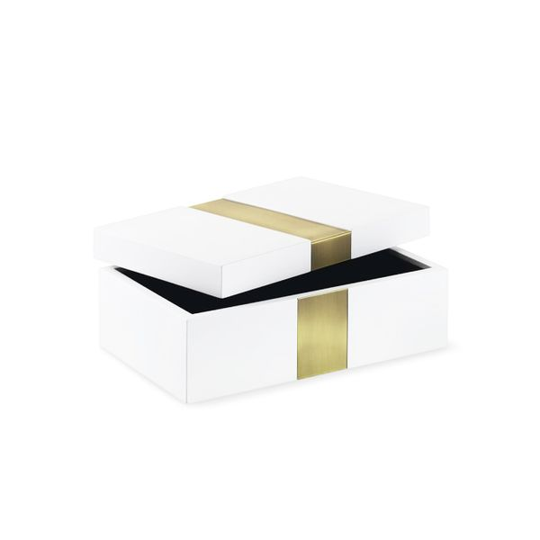 Williams-Sonoma Metal Stripe Box