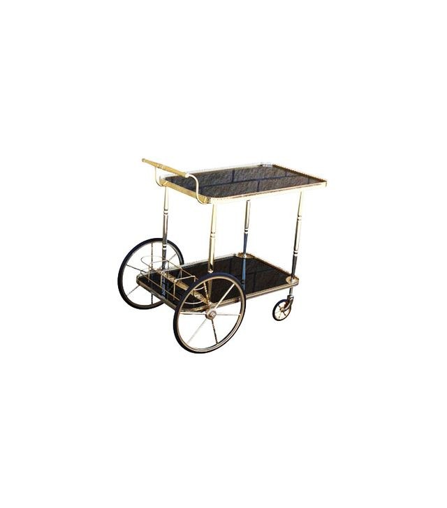 Chairish Vintage French Brass Cart