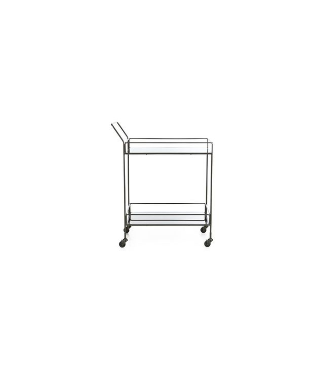 Crate and Barrel Noir Bar Cart