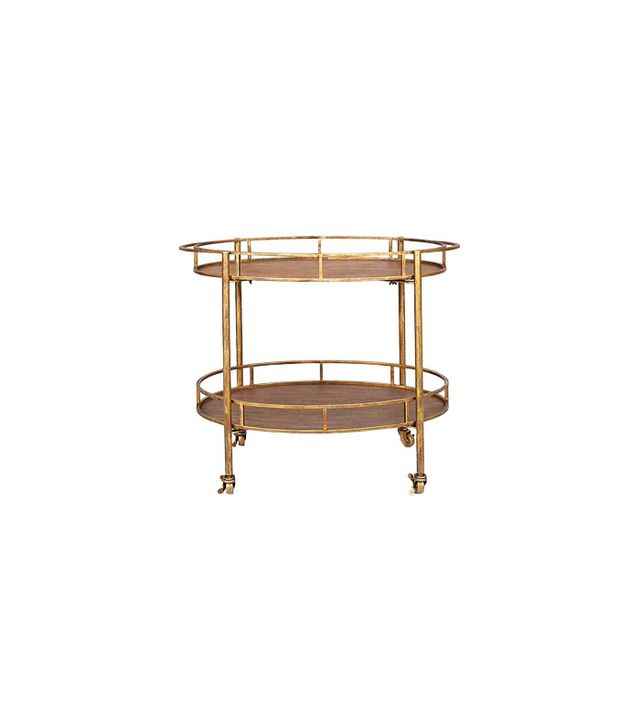 Dot&Bo Gold and Metal Bar Cart