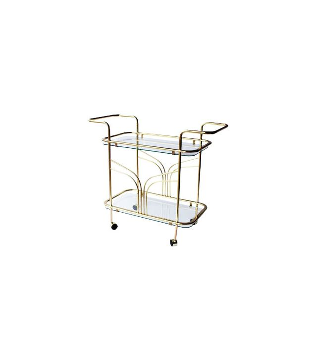 Architectural Anarchy Midcentury Brass Bar Cart