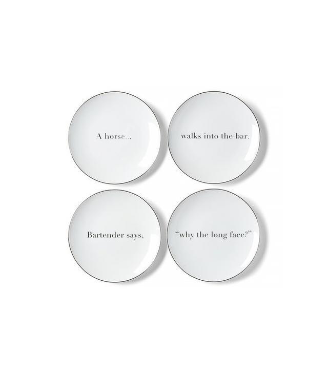 ED Joke Appetizer Plate Set