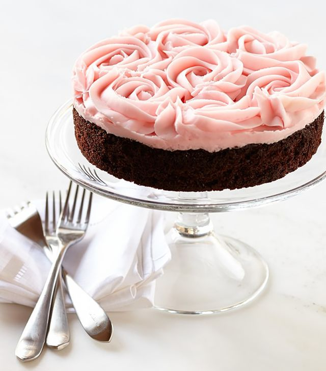 Williams Sonoma Pink Rose Chocolate Cake