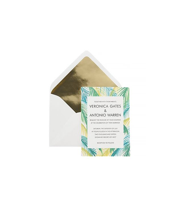 Paper Source Palms Wedding Invitation