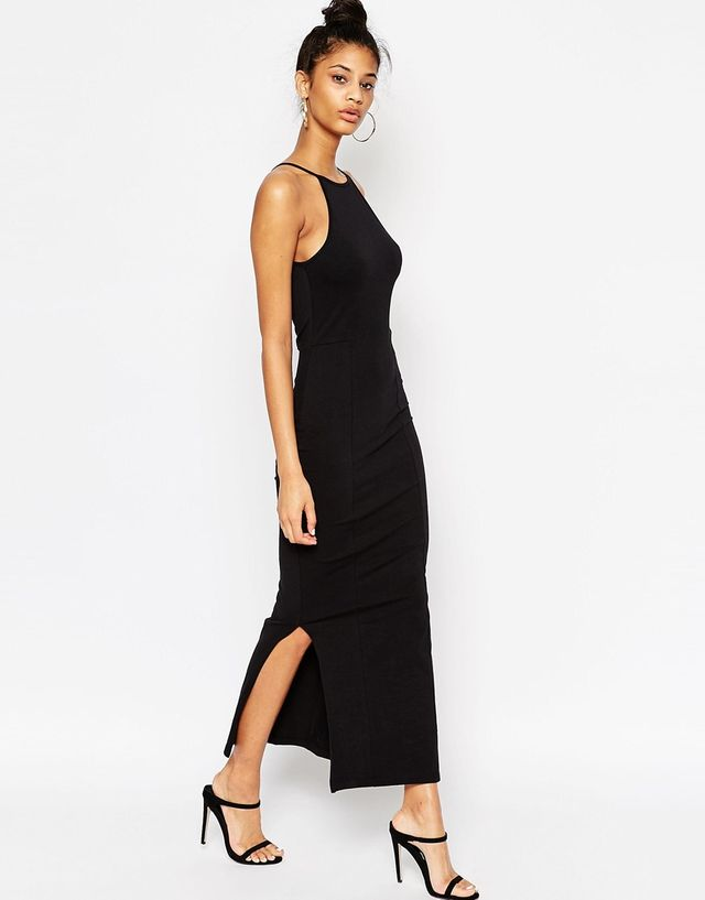 ASOS Maxi Dress With 90s High Neck