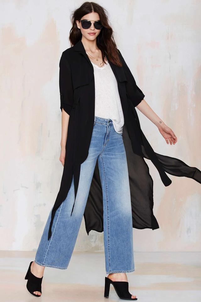 Strange Kind of Woman Sheer Trench Coat
