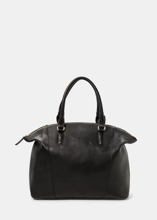 Mango Violeta Pebbled Shopper Bag