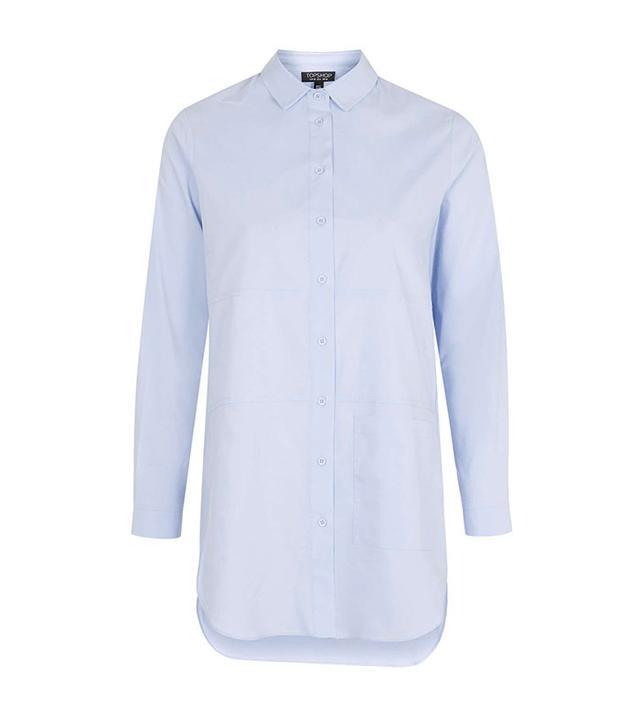 Topshop Oversized Pocket Shirt