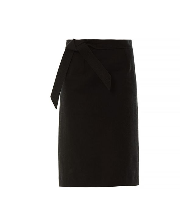 Isabel Marant Loella Bow-Front Pencil Skirt