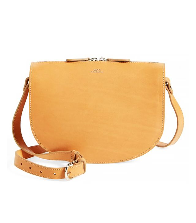 A.P.C. Sac Andrea Leather Crossbody Bag