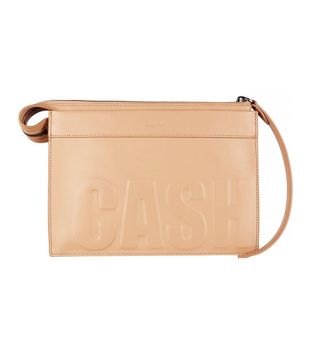 3.1 Phillip Lim Cash Only Embossed Leather Clutch