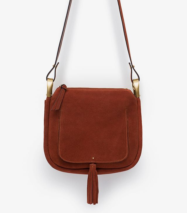 Zara Leather Tassel Messenger Bag