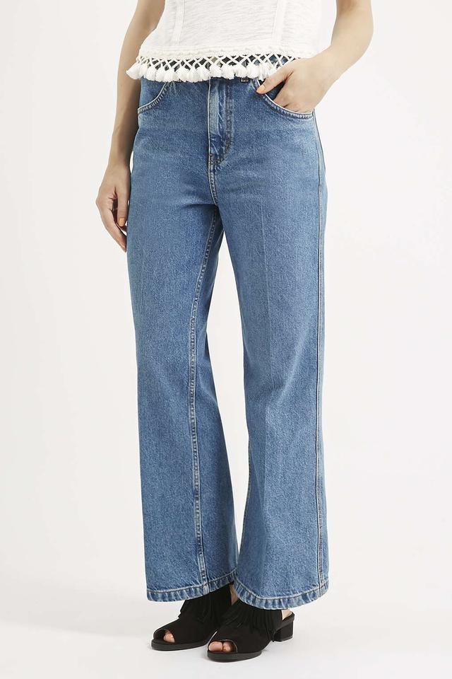 Topshop Moto Wide Leg Cropped Jeans