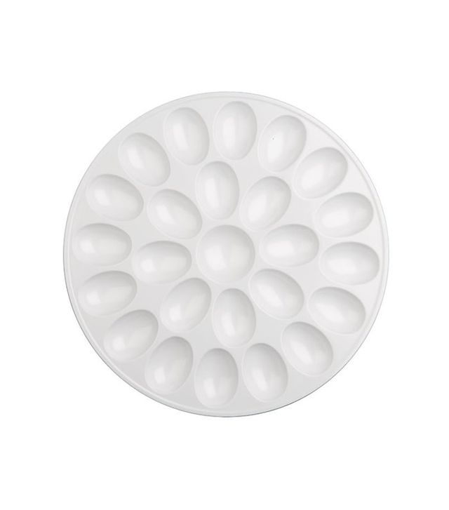 Crate and Barrel Egg Plate